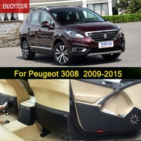 Car Pads Front Rear Door Seat Anti kick Mat Car styling Accessories For Peugeot 3008 2009 2010 2011 2012 2013 2014 2015