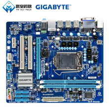 Original Used Desktop Motherboard Gigabyte GA-H55M-S2V H55 LGA 1156 Core i7 i5 i3 DDR3 8G SATA2 USB2.0 VGA DVI Micro-ATX for msi p43 c53 h original used desktop motherboard for intel p43 socket lga 775 ddr3 16g atx