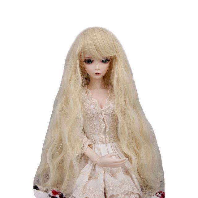 "[wamami] FBE-023# Beige Wavy Wig Curly Hair For 1/6 SD DOD BJD dollfie 6-7"""