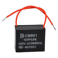 CBB61 10uF Red Connection Lead Motor Starting Capacitor for Ceiling Fan