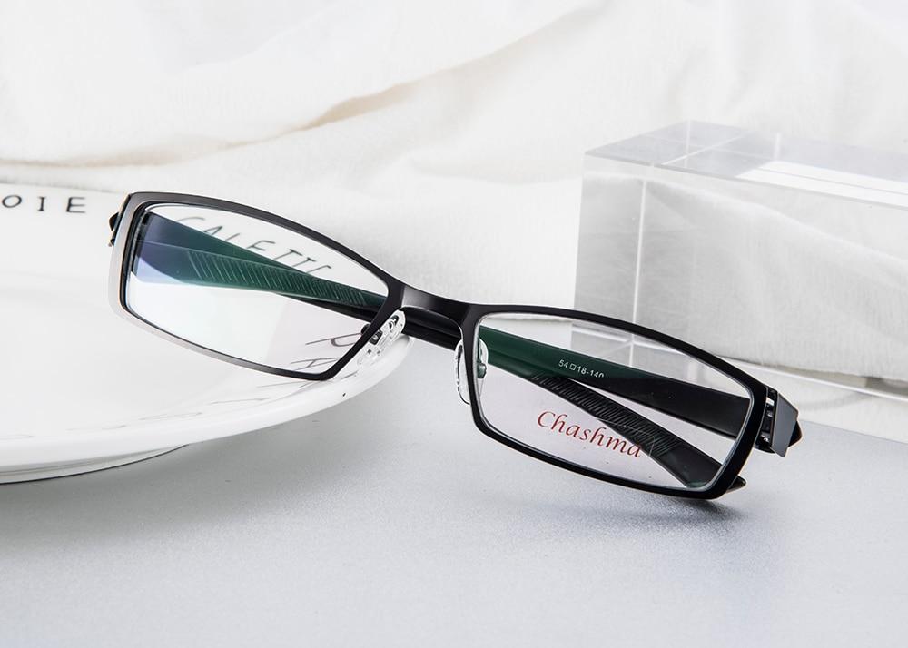10fe9f13addd0 homens de Liga de Titânio Miopia Óculos de Armação de Metal Óculos Full  Frame de Espetáculo de Luz Ultra