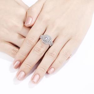 Image 5 - Newshe 2Pcs Hochzeit Ring Sets Klassische Schmuck 1,9 Ct AAA CZ Echtem 925 Sterling Silber Verlobung Ringe Für Frauen JR4844