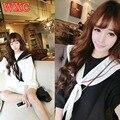 Vestidos de verao de harajuku gola marinheiro vestidos roupas de verão lovely girls mulheres dress escola kawaii wxc
