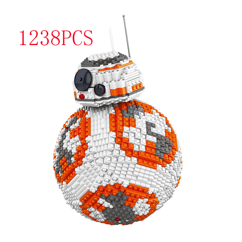 hot compatible LegoINGlys Star Wars series Building blocks The Force Awakens Rogue A UCSQ BB-8 Robot figures brick toys gift hot compatible legoinglys star wars series building blocks imperial shuttle warships with figures brick toys for children gift