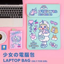 Bentoy Milkjoy Girls Beauty Unicorn Handbag 15 13 12inch Travel Business Women Laptop bag Waterproof Velvet Mac ipad Case Holder