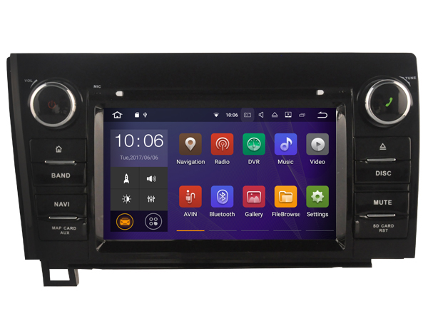 Android 8 0 octa core car dvd player for TOYOTA tundra Sequoia 2008 2015 stereo font