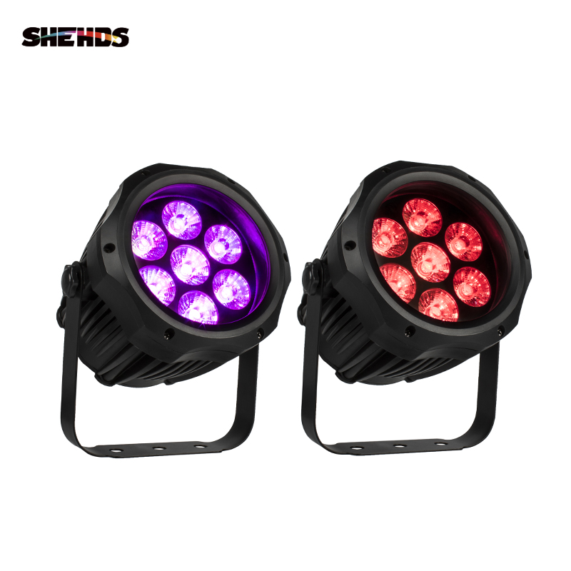 Shehds 7x18W LED Outdoor Waterproof Light 7x12W Par Lights Projector Landscape Effect For Park Garden Disco KTV Party Bar Lamp