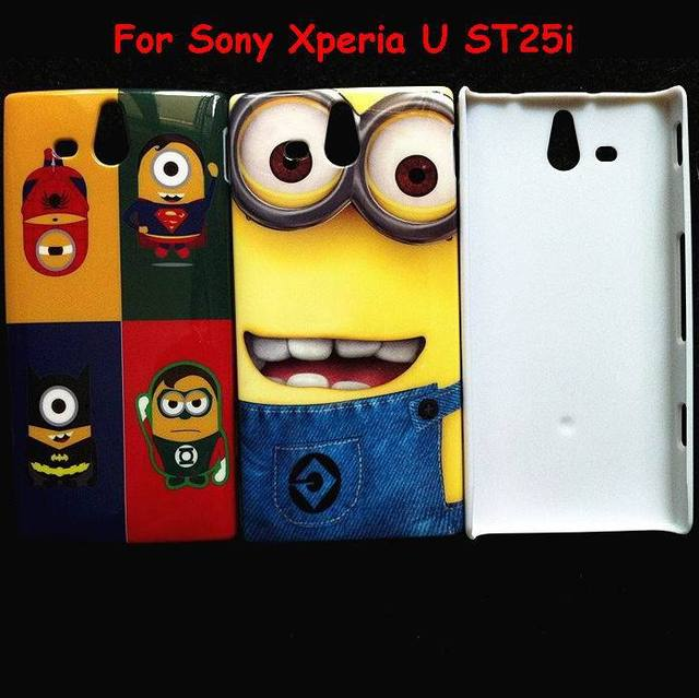 Despicable Me 2 Series Minion Plastic Shell Cute Cartoon Sponge Bob Hard  Case For Sony Xperia