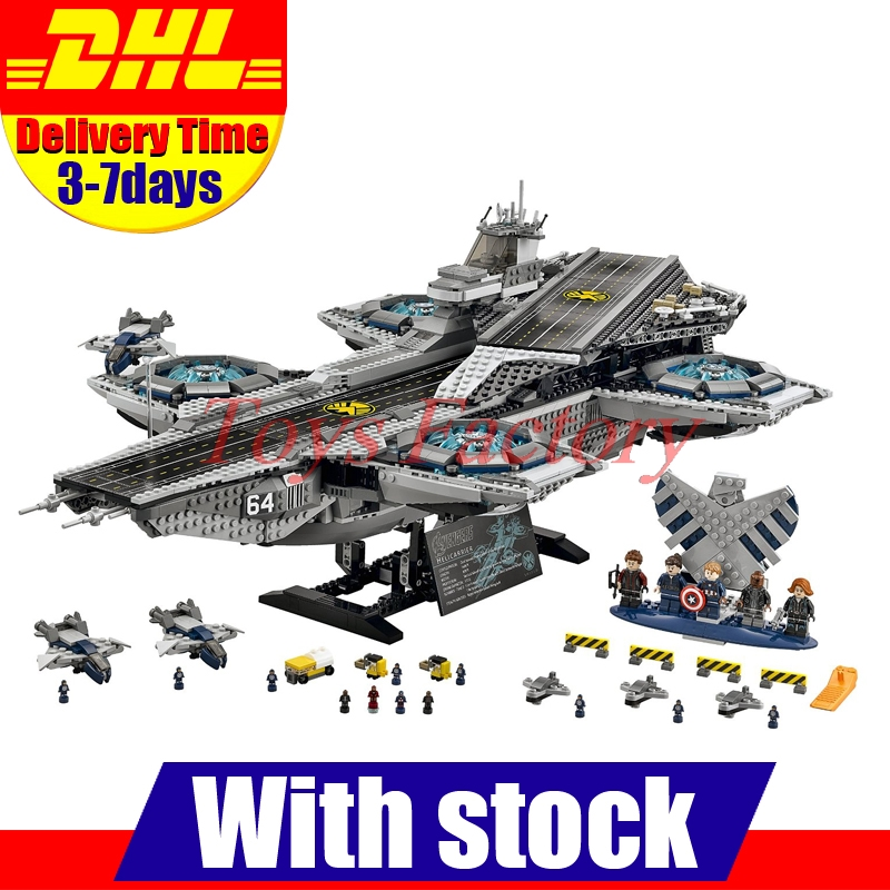 font b 2017 b font New DHL 3057pcs LEPIN 07043 Super Heroes The SHIELD Helicarrier