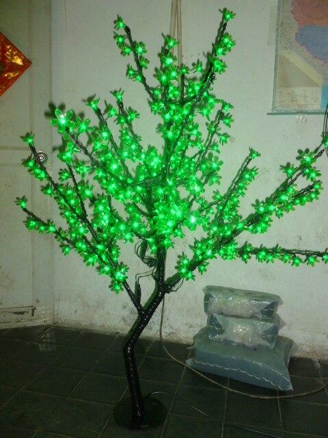 Işıklar ve Aydınlatma'ten Tatil Aydınlatması'de Ücretsiz gemi Yılbaşı Yeni yıl dekor Yeşil Kiraz Çiçeği Ağacı Işık 480 adet LED Ampuller 1.5 m Yükseklik 110/ 220VAC Yağmur Geçirmez Açık Classic Faucet Store