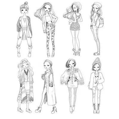 Chica de moda libro de colorear para Chicas Mujeres Aliviar El ...
