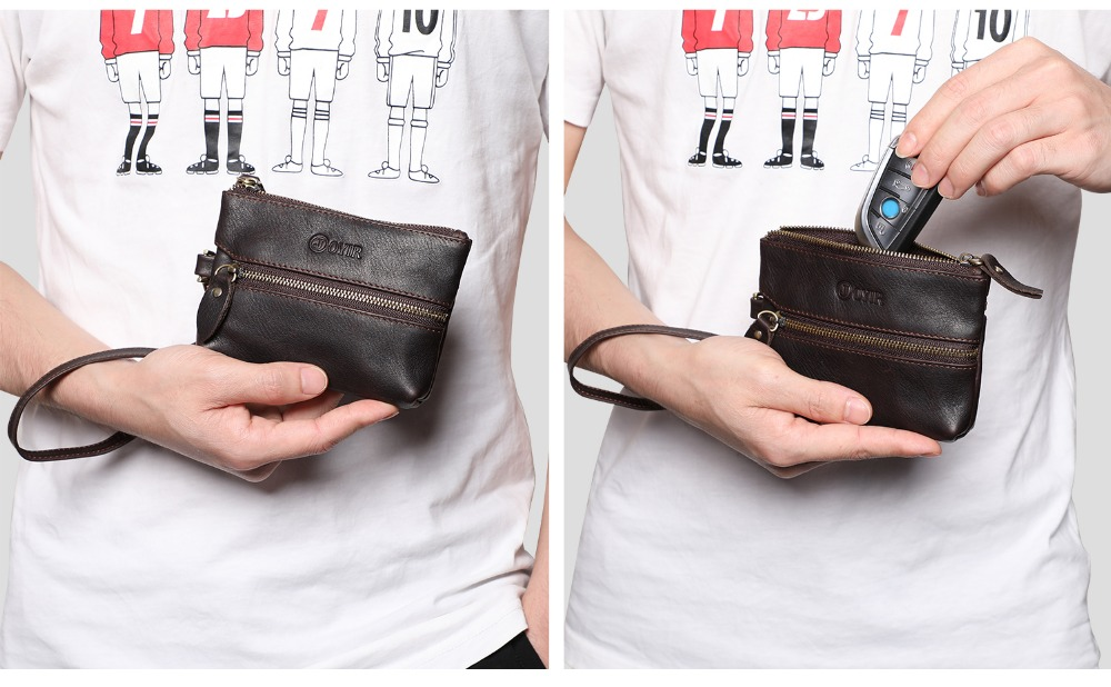 K034--Men Keychain Covers Zipper Key Case Bag (7)