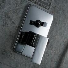 Becola Бесплатная доставка твердая латунь хром в стены скрыты ванная комната душевая панель handle. переключатель клапан BR-9111