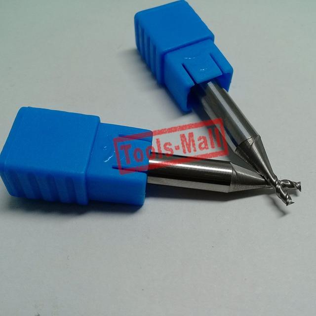 1pc 2mm D2*11*D4*75HRC50 2 Flutes Milling cutters for Aluminum  CNC Tools Solid Carbide CNC flat End mills Router bits