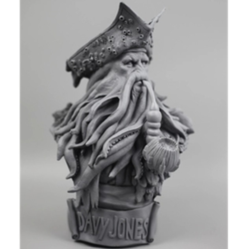 Pirates of the Caribbean: At World's End Octopus Captain Davy Jones Resin Bust 1/3 Action Figure Model Giocattolo G1539 pirates of the caribbean figures toys 10cm captain jack sparrow barbossa davy jones pvc action figures doll pvc model toys