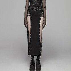 PUNK RAVE mujeres estilo gótico Sexy falda Steampunk Rock coppslay Stage falda personalidad Hip Hop Streetwear faldas