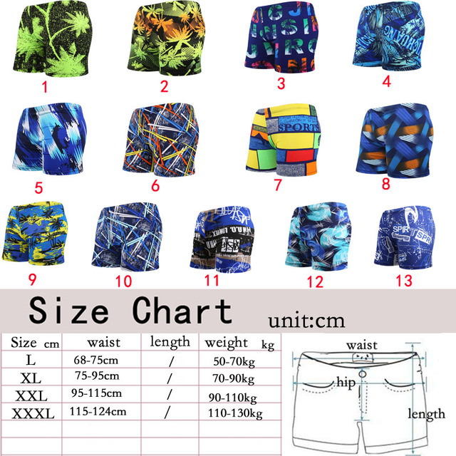Swimwear for Men 2018 Swimsuit Sexy Boy Beach Swimming Pool Bathing Suit Boxer Shorts Mens Swim Trunks Sunga Surfing Plus Size