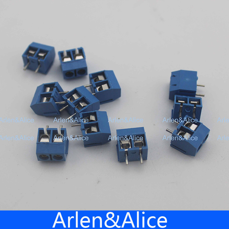 20 pcs 2 Pin Screw blue green PCB Terminal Block Connector 5mm Pitch hot factory direct wholesale idc40 male plug 40pin port header terminal breakout pcb board block 2 row screw