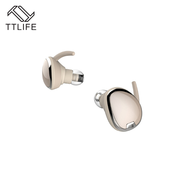 TTLIFE TWS True Wireless Binaural Bluetooth 4.1 Stereo Earphones Noise Cancelling with Mic Support Multi-connection For iPhone