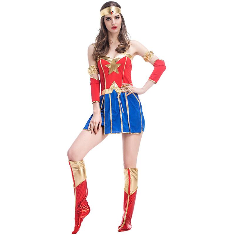 Hot Sale Adult Anime Superhero Wonder Woman Costume Cosplay For