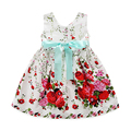 2016 summer girls dress fashion girls clothes sleeveless dresses with belt