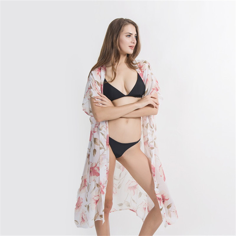 XIANXIANQING Beach dress Cover-up Swimwear Bobe de Plage Pareo Tunics Bathing suit cover-up Saida de Praia Bikini covers up 2767