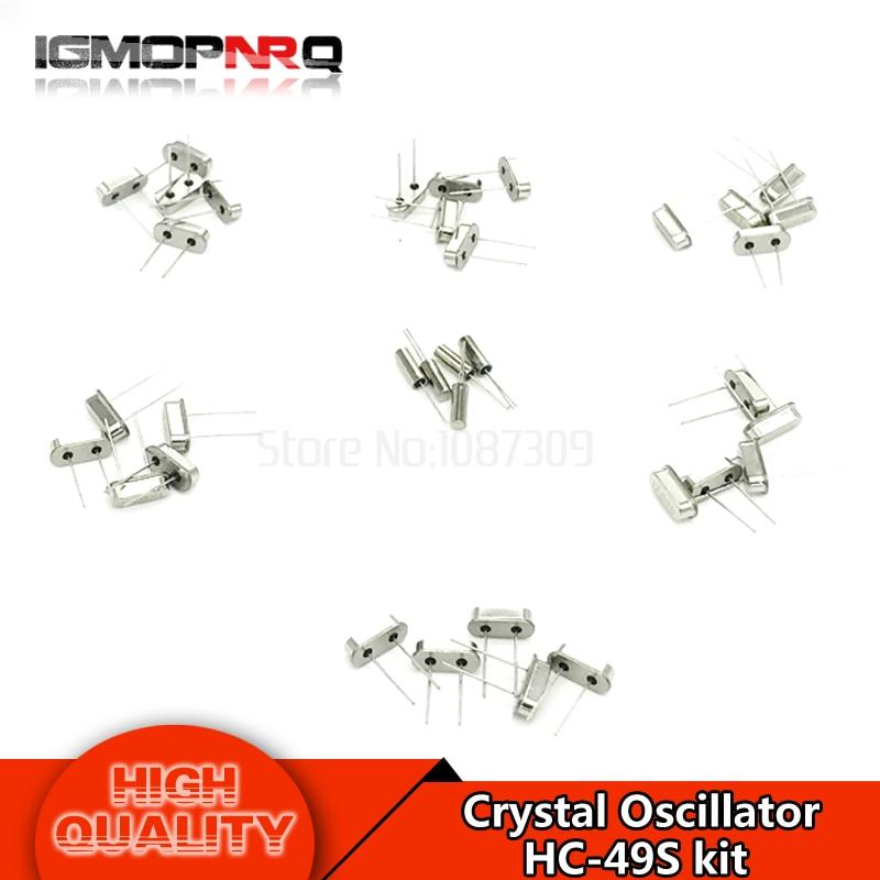 30pcs Crystal Oscillator 4MHz 8MHz 10MHz 12MHz 16MHz 20MHz HC-49S Each 5pcs