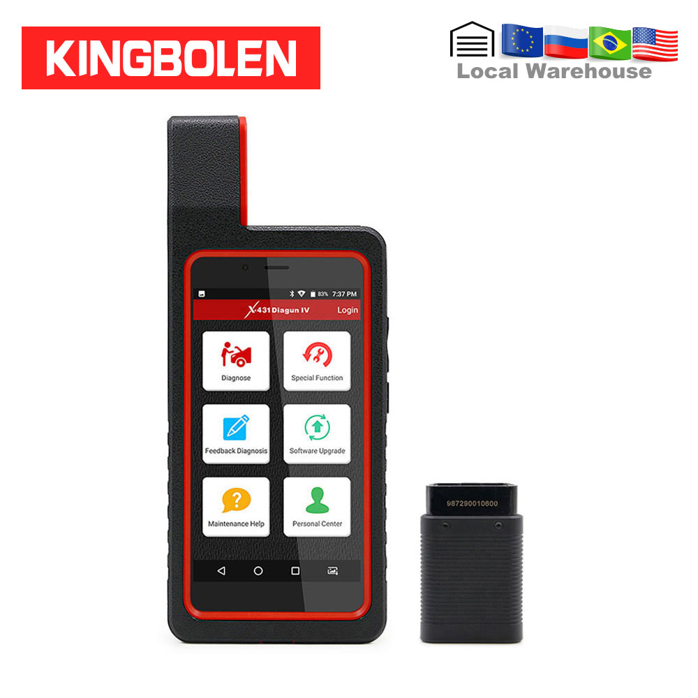 Launch X431 Diagun IV Full set with Old Car OBD1 OBD2 Cable Auto Diagnostic Tool 2