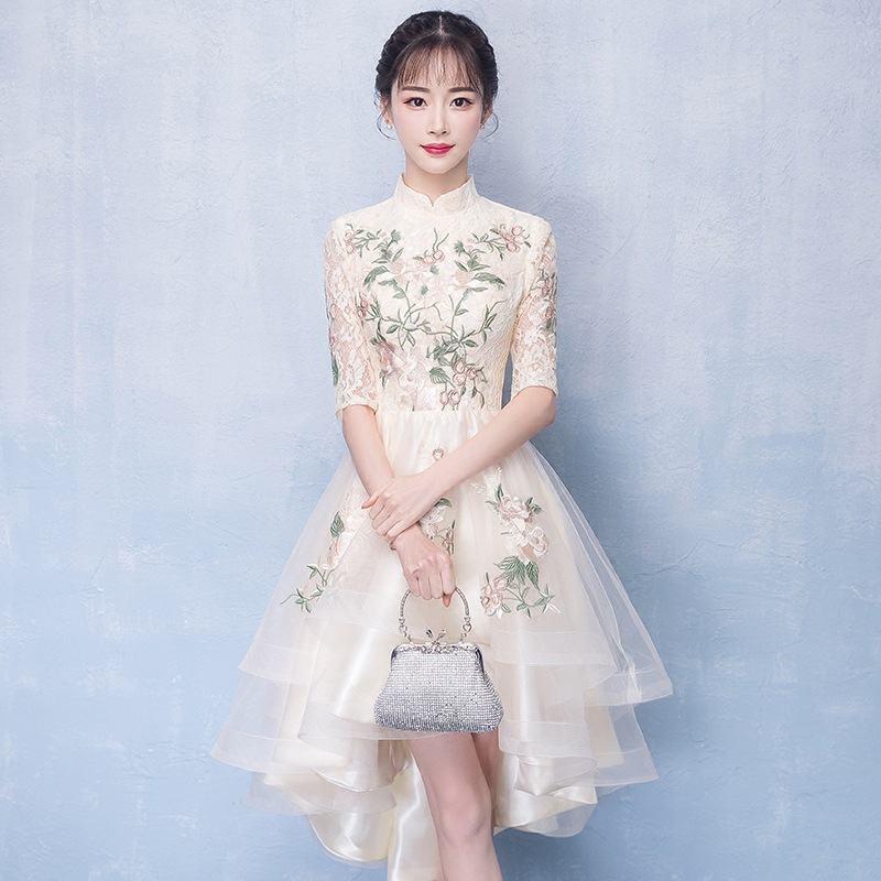 Image 4 - Женское платье цвета шампанского, элегантные платья для невесты на выпускной, 2020Платья подруги невесты   -