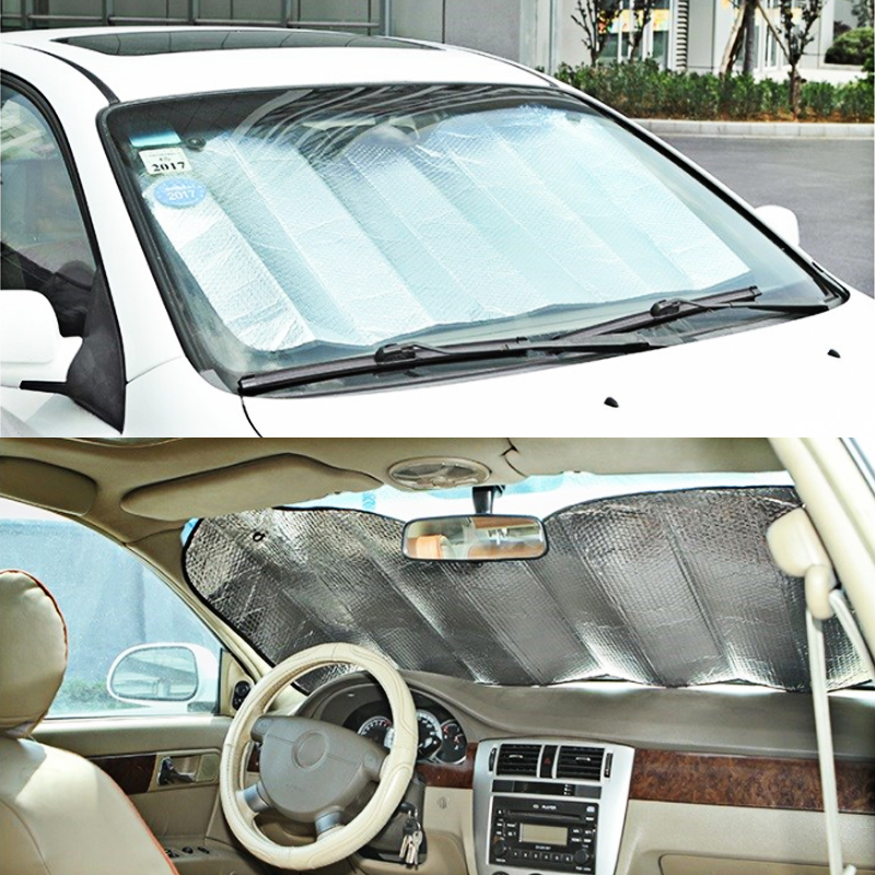 1Pc Front Rear Car Window Sunshade Sun Shade Visor Covers Back Car Windshield Sunshade Auto UV Protect Reflector 130Cm 60Cm in Side Window Sunshades from Automobiles Motorcycles