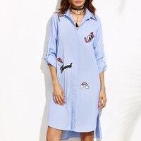 KMD KOMODA Letter Printed Shirt Dresses Women Long Sleeve Elegant Straight Dress Female Cute Fashion Dress