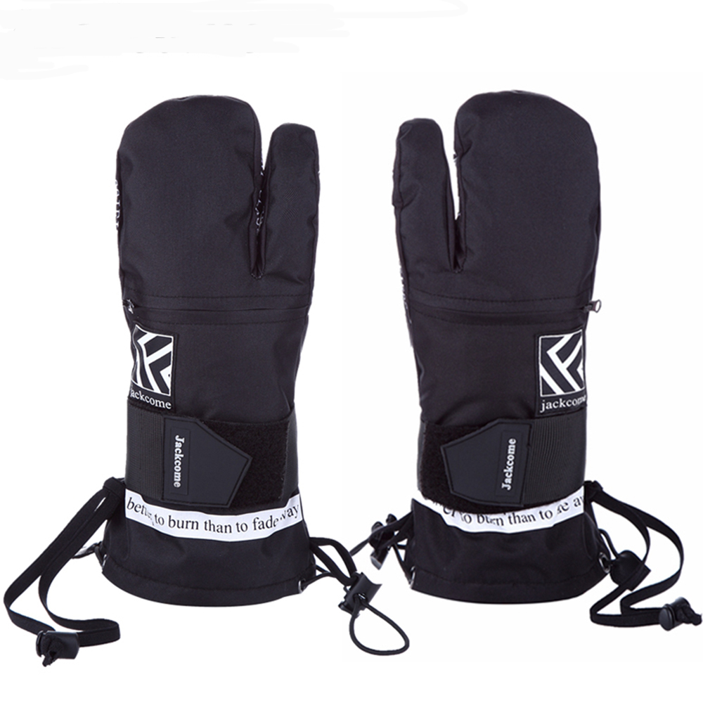Gants de Ski hiver gants de neige imperméables chauds avec corde Anti-perte pour le Ski snowboard course gants de sport de plein air