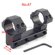 Free Shipping New 11mm Aluminum Integral Air Rifle Scope Mount 30mm Diameter Weaver Rail Mount Rings Hunting Accessories