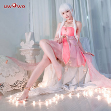 UWOWO Feather Garment Song Series Anthropomorphic Flamingo Women Cosplay Costume Pink Dress for Party Carnival Costume dress