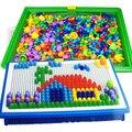 296 Гриб Гвоздя Интеллектуальные 3D Головоломки DIY Ногтя Гриб Пластиковые Flashboard Дети Игрушки Развивающие Игрушки случайный цвет