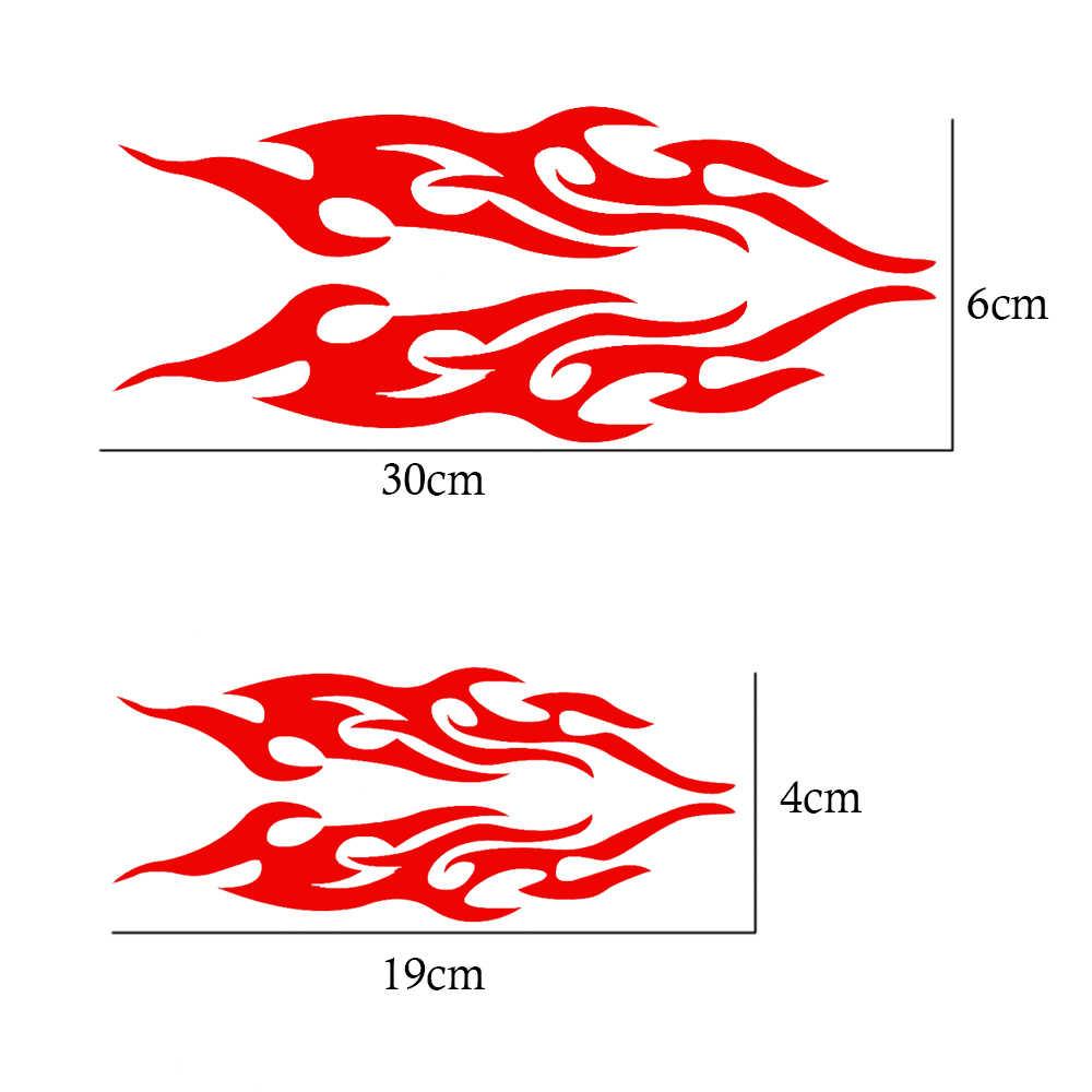 2 Pcs Universal Mobil Stiker Styling Kap Mesin Sepeda Motor Stiker Dekorasi Mural Vinyl Mencakup Auto Api Api Sticker Mobil- styling