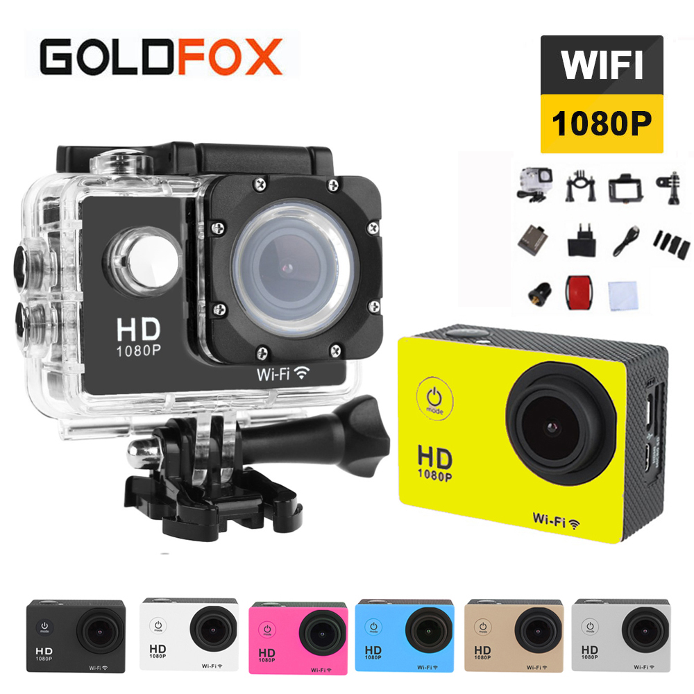 GOLDFOX SJ4000 Action Camera WiFi 12MP HD Camera 1080P Full HD Sports Camera 2.0LCD Waterproof Sport DV Car DVR Video Camcorder фотокамеры и аксессуары sj 4000 camera sjcam sj4000 1 5 lcd dv dvr full hd 1080p