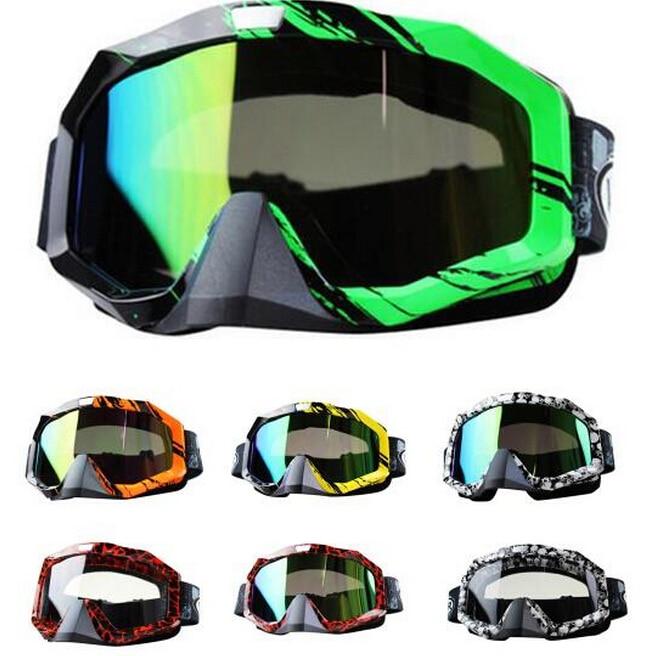Hot snowboard off-road racing Gafas gafas ski snowmobile ATV DH skate gafas Single Lens borra