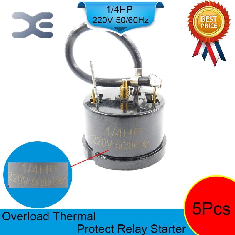 5PCS Refrigerator Compressor 220V 180W Overload Protector Refrigerator Refrigerator Parts 1/4 HP цена и фото