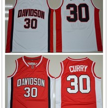 814c4e162 Davidson Wildcat  30 Stephen Curry College Basketball Jerseys - Red  S-2XL(China