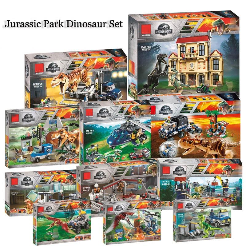Jurassic World Dinosaur Set 10928 10927 10926 Compatible Legoing 75930 75932 Model Building Kits Blocks Bricks Toy Gift