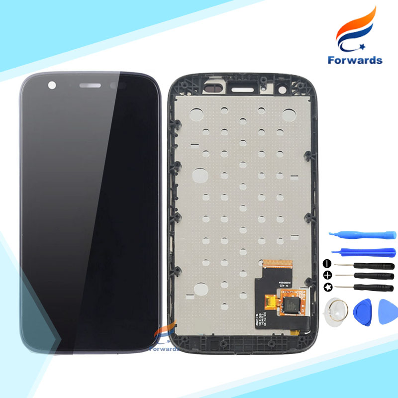 100 Tested for Motorola MOTO G XT1032 XT1033 LCD Screen Display with Touch Digitizer Frame Tools