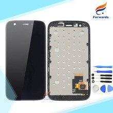 100% getestet für motorola moto g xt1032 xt1033 lcd bildschirm Display mit Touch Digitizer Rahmen Tools Montage 1 stück freies verschiffen