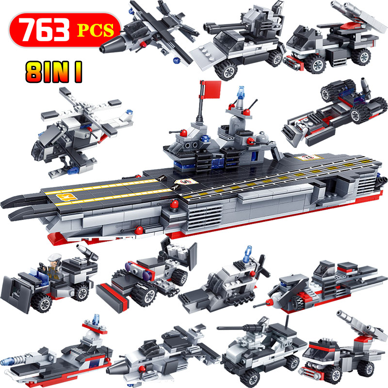 Figures Modern Wars Weapon Building Blocks Ocean Battleship Action Model Enlightening LegoINGLYS Bricks Toys For Kids 20cm ogrum 44007 robot brain attack hero factory 5 0 star soldier action figures model building bricks blocks kids toys gifts