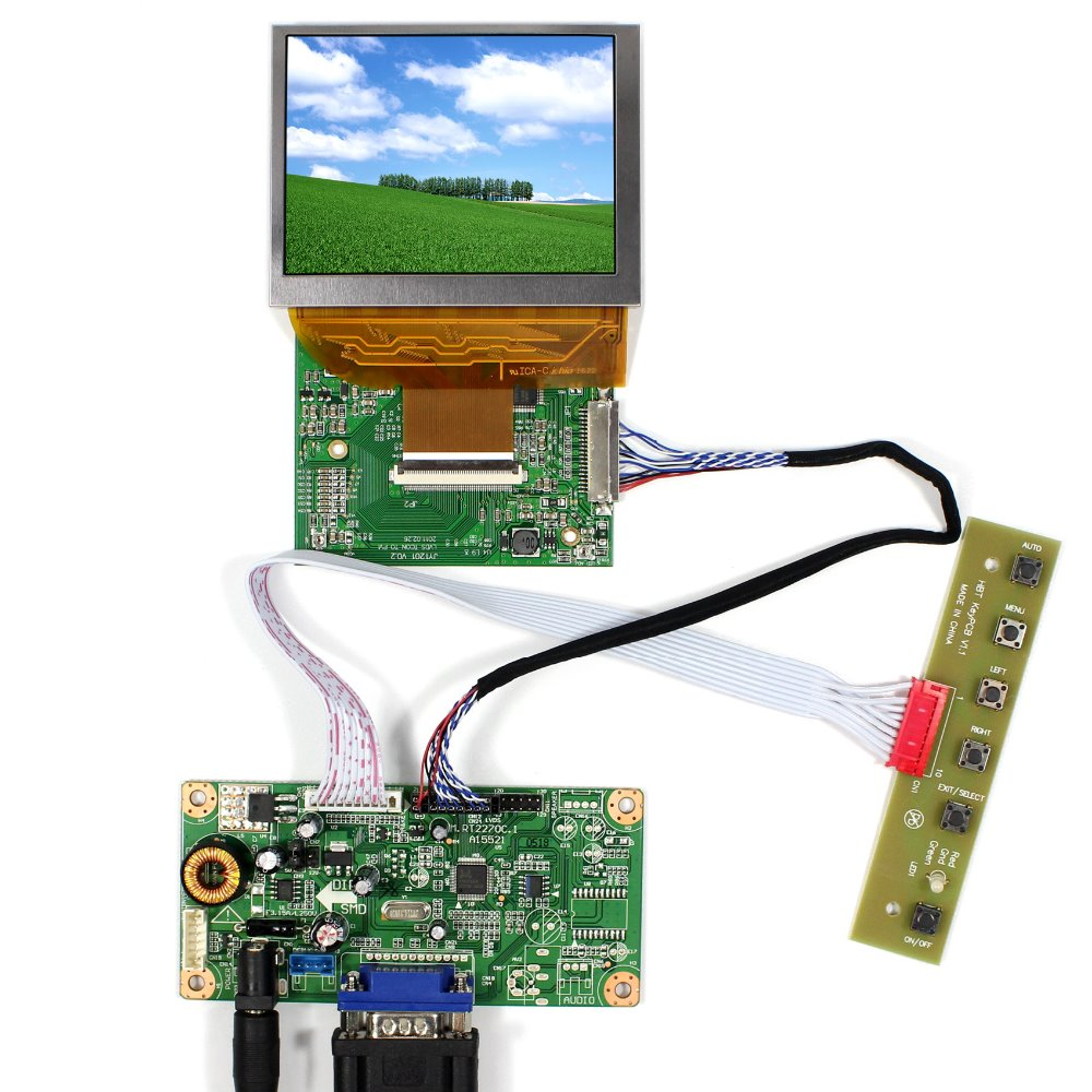 VGA LCD Controller Board+LVDS Tcon Board+3.5 PD035VX2 640x480 LCD Screen hdmi dvi vga audio lcd controller board lvds tcon board 3 5 pd035vx2 640x480 lcd screen