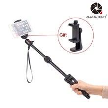 Alumotech Multi-Функция мини Стенд Свет Вес Портативный монопод Штатив селфи стабилизатор для поездки Камера смартфон