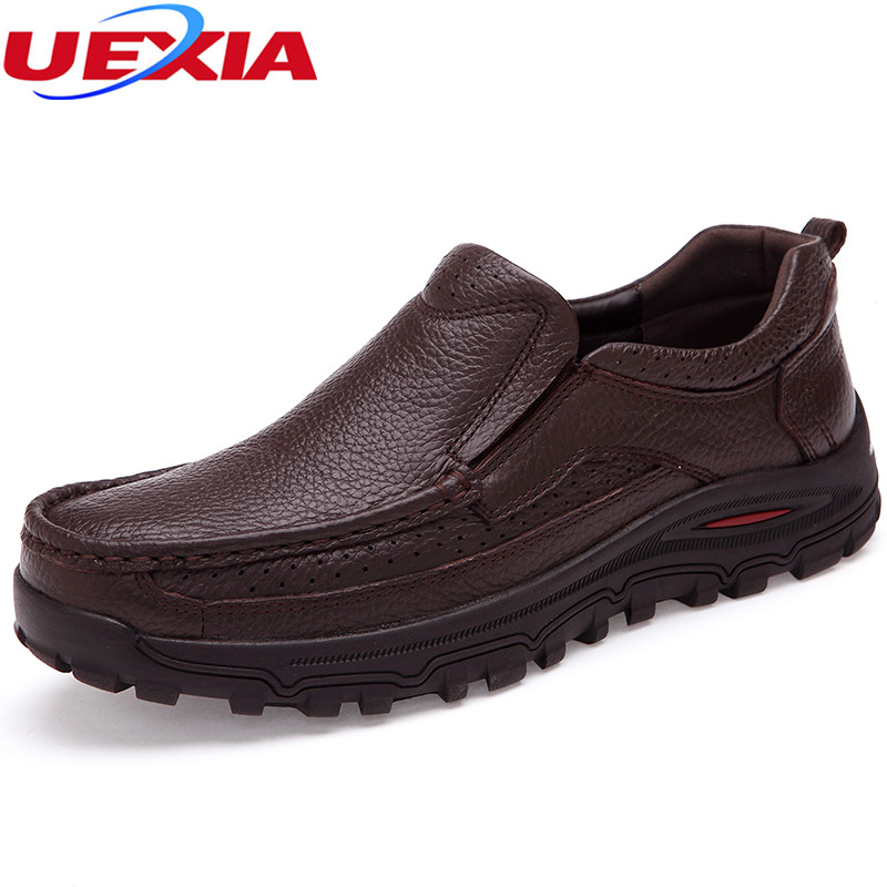 UEXIA Men Casual Shoes Men's Soft Leather Business Formal Slip-on Loafers Male Fashion Shoes Boats Mens Moccasin Big Size 38-48 new 2017 men s genuine leather casual shoes korean fashion style breathable male shoes men spring autumn slip on low top loafers