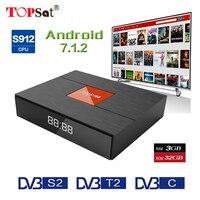 Magicsee C400 плюс Amlogic S912 Восьмиядерный ТВ коробка 3 + 32 ГБ Android 4 К телеприставке DVB S2 DVB T2 кабель двойной WiFi Smart Media Player