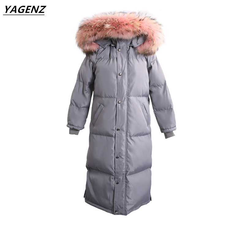 Women Winter Coat Jacket Warm Woman Female Medium-Long Overcoat High Quality Cotton Clothing 2017 Winter Collection YAGENZ A25 new winter collection women winter coat jacket warm woman parkas female overcoat high quality feather cotton coat plus size 5xl