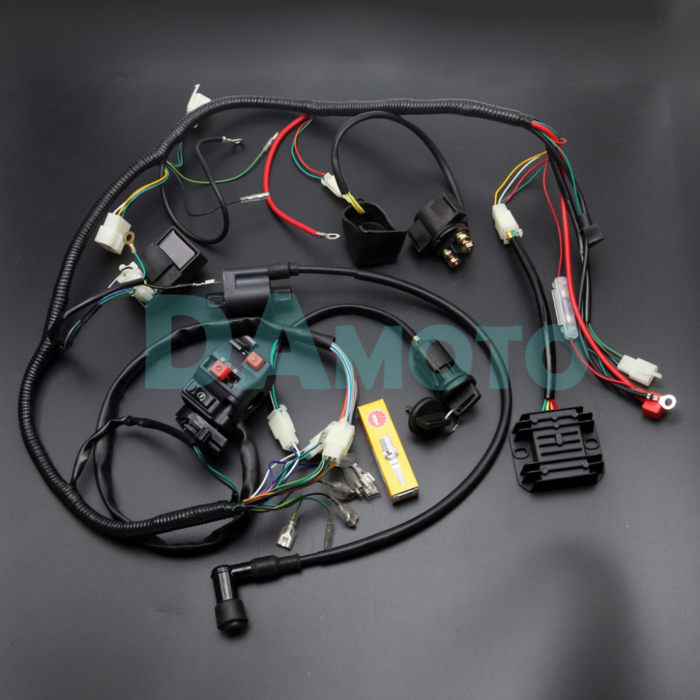 Online Shop Full Wiring Harness Loom Ignition Coil Cdi For 150cc Gy6 200cc Chinese Atv D8ea 250cc 300cc Zongshen Lifan
